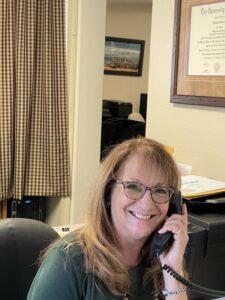 Patti Barrett, Receptionist